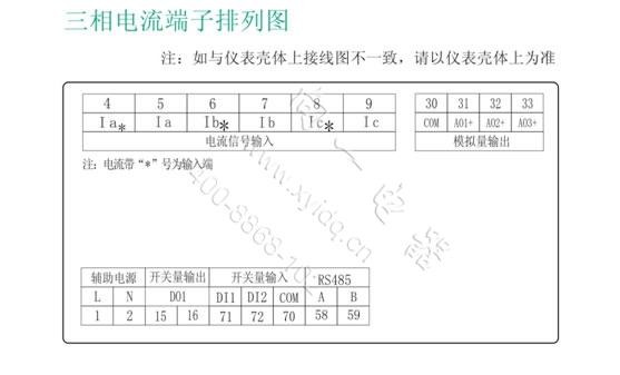 5级 信号输入 接线方式 三相四线/三相三线 电流 额定电流 ac 1a,ac