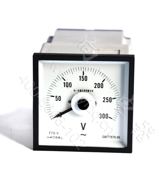 成套配电柜用q72-dc指针式广角度指针船舶电压表电路图